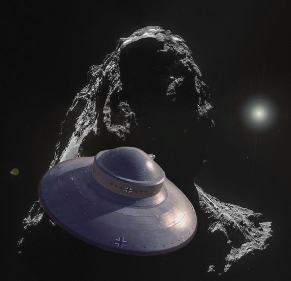 Rosetta looking at Nazi-Ufo