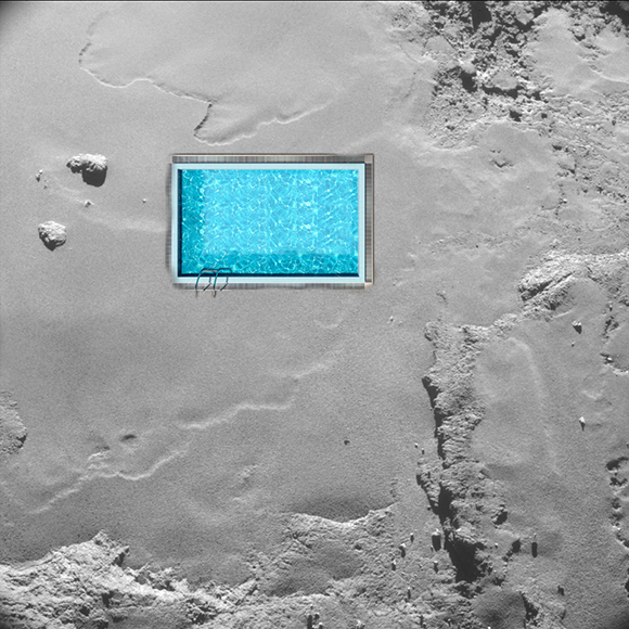 Rosetta looking at Schwimmbad